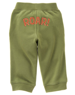 Toddler Boys Olive Green Roar Fleece Active Pant by Gymboree
