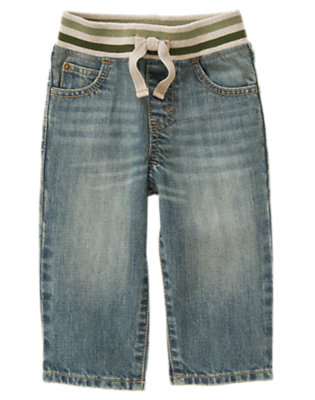 Toddler Boys Denim Pull-On Jeans by Gymboree