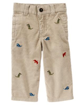 Toddler Boys Khaki Dinosaur Corduroy Pant by Gymboree