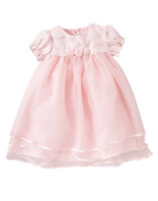 Softly Pink Tulle Rosette Dress by Gymboree