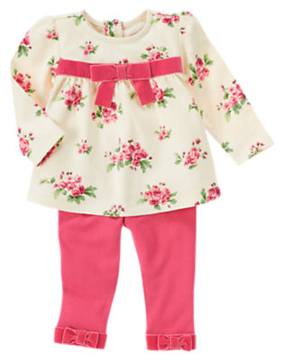 Holiday Pink Floral Floral Two-Piece Set by Gymboree