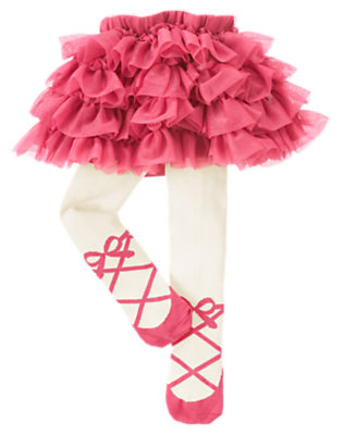 Baby Holiday Pink Tulle Skirted Tight by Gymboree