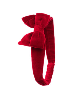 Holiday Red Velveteen Bow Fruffle by Gymboree