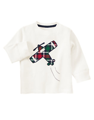 Ivory Airplane Thermal Tee by Gymboree