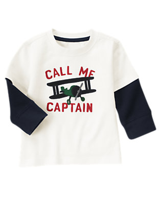 Ivory Captain Double Sleeve Tee by Gymboree