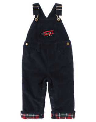 Gym Navy Airplane Corduroy Overall by Gymboree