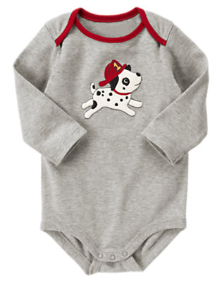 Heather Grey Dalmatian Pup Bodysuit by Gymboree
