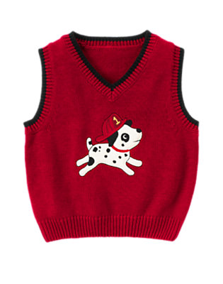 Firetruck Red Firetruck Sweater Vest by Gymboree