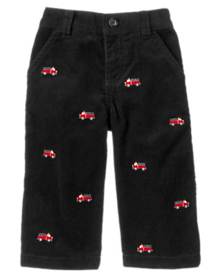 Black Firetruck Corduroy Pant by Gymboree
