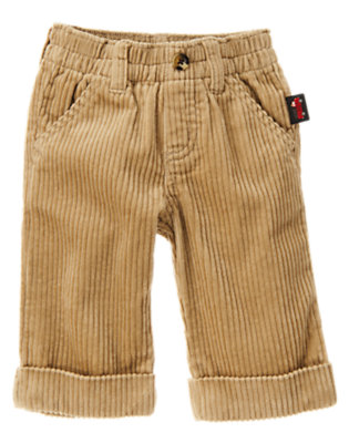 Khaki Wide Wale Corduroy Pant by Gymboree
