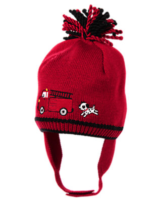 Baby Firetruck Red Firetruck Sweater Hat by Gymboree