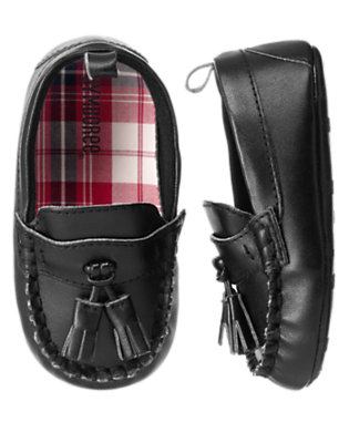 Black Tassel Crib Loafer by Gymboree