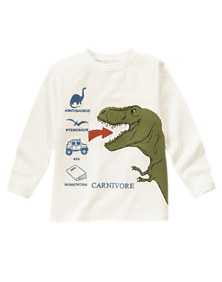Ivory T-Rex Carnivore Tee by Gymboree