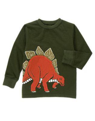 Green Dinosaur Stegosaurus Tee by Gymboree