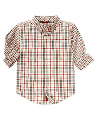 Ivory Check Tattersall Shirt by Gymboree