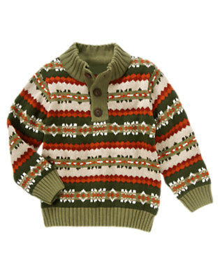 Green Dinosaur Fair Isle Pullover Sweater by Gymboree