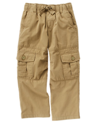 Khaki Lined Cargo Active Pant by Gymboree