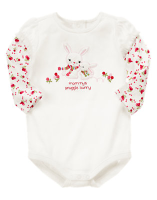 Ivory Mommy's Snuggle Bunny Bodysuit by Gymboree