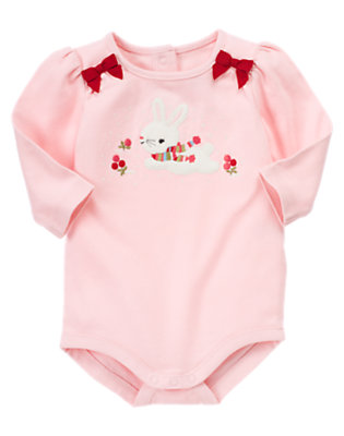 Bunny Pink Snow Bunny Bodysuit by Gymboree