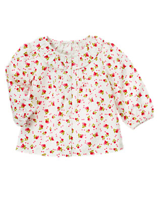 Baby White Berry Floral Berry Floral Top by Gymboree