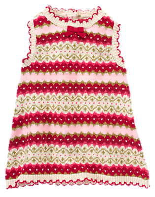 Baby Red Berry Fair Isle Fair Isle Sweater Jumper by Gymboree