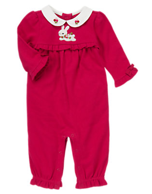Baby Red Berry Snow Bunny One-Piece by Gymboree