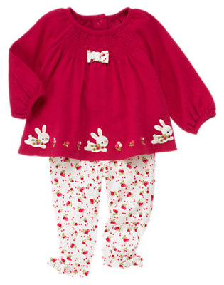 Red Berry Snow Bunny Two-Piece Set by Gymboree