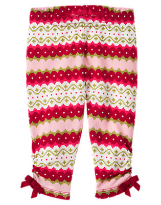 Red Berry Fair Isle Fair Isle Legging by Gymboree