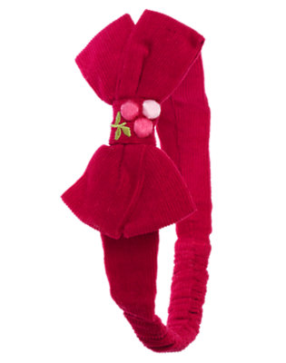Red Berry Berry Embroidered Bow Fruffle by Gymboree