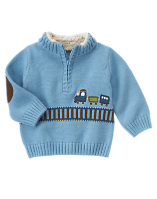 Train Blue Train Sweater by Gymboree