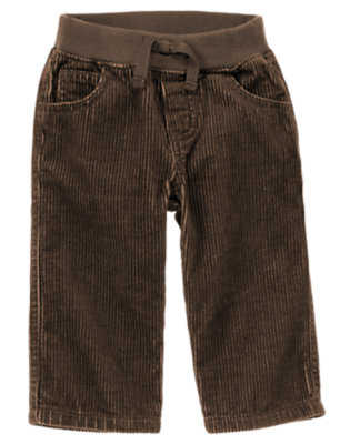 Boxcar Brown Corduroy Pant by Gymboree