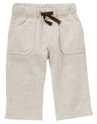 Baby Wheat Heather Caboose Knit Pant by Gymboree
