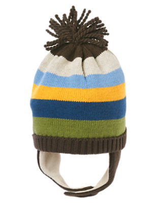 Boxcar Brown Stripe Stripe Sweater Hat by Gymboree
