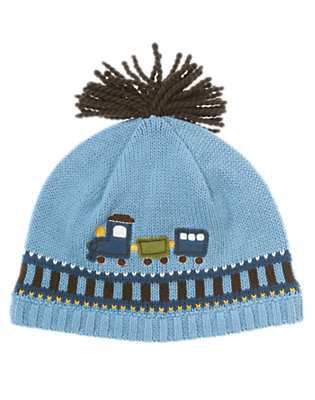 Train Blue Train Sweater Hat by Gymboree