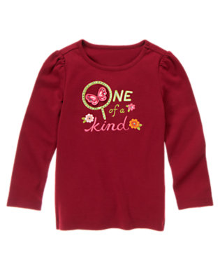 Pomegranate Red One Of A Kind Butterfly Long Sleeve Tee by Gymboree