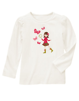 Ivory Butterfly Girl Tee by Gymboree