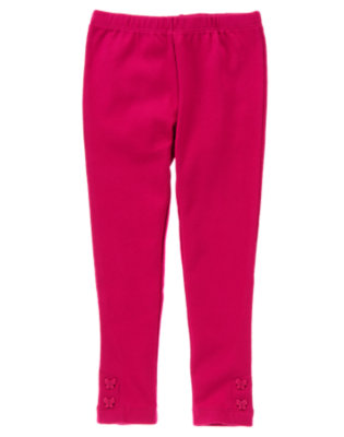 Raspberry Pink Butterfly Button Cuff Legging by Gymboree