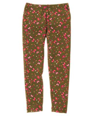 Girls Fern Green Butterfly Butterfly Print Legging by Gymboree