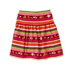 Flower Stripe Skort