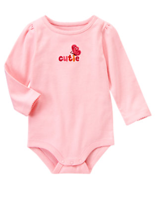 Sweet Pink Cutie Butterfly Bodysuit/Tee Shirt by Gymboree