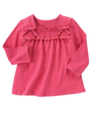 Autumn Pink Smocked Long Sleeve Top by Gymboree