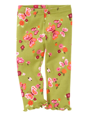 Fern Green Butterfly Butterfly Legging by Gymboree