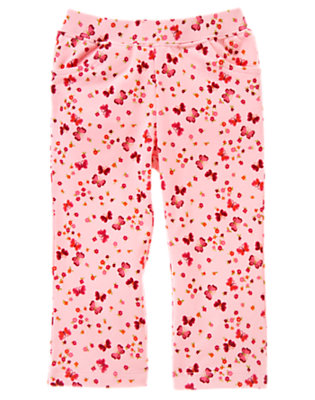 Sweet Pink Butterfly Butterfly Floral Pant by Gymboree