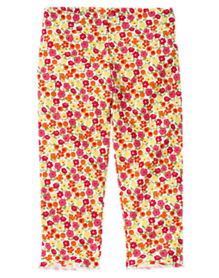 Amber Yellow Floral Mini Floral Legging by Gymboree