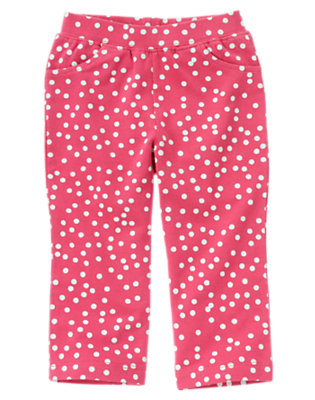 Toddler Girls Autumn Pink Dot Dot Knit Pant by Gymboree
