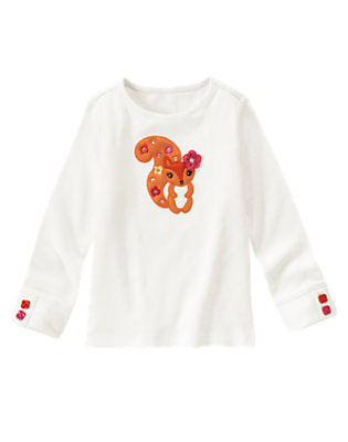 Ivory Gem Flowers Squirrel Tee by Gymboree