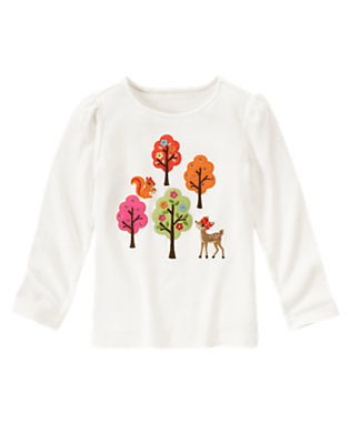 Ivory Gem Forest Friends Tee by Gymboree