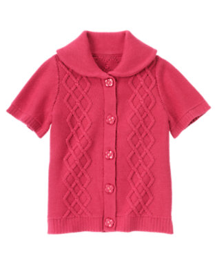 Girls Autumn Pink Flower Button Sweater Tunic by Gymboree