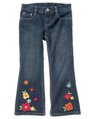Denim Gem Flower Bootcut Jean by Gymboree
