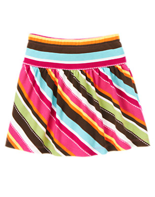 Girls Autumn Pink Stripe Stripe Skort by Gymboree